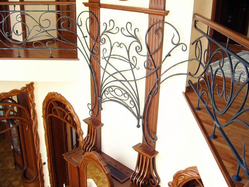 кованые изделия на двери стальные